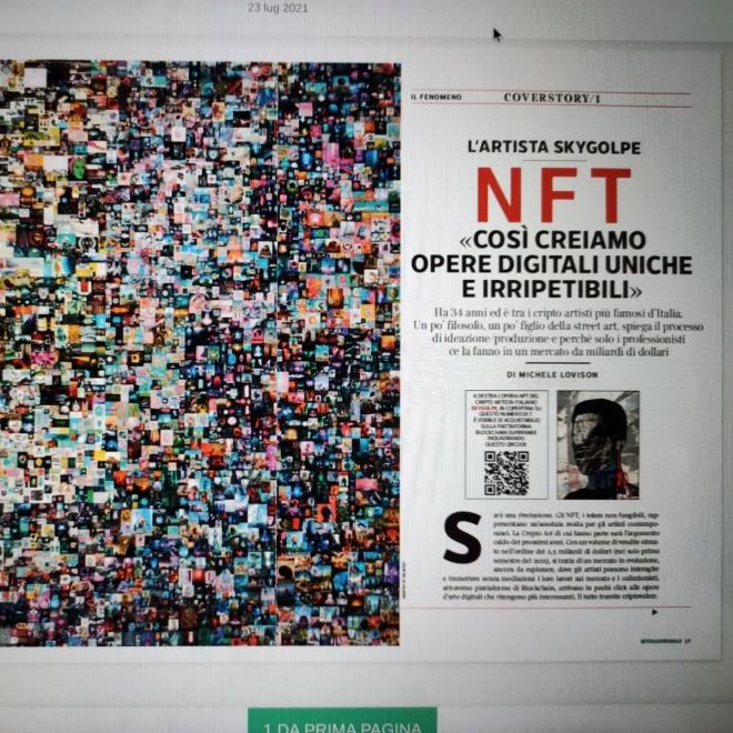 Michele Lovison, 7 Corriere della sera del 23 luglio 2021