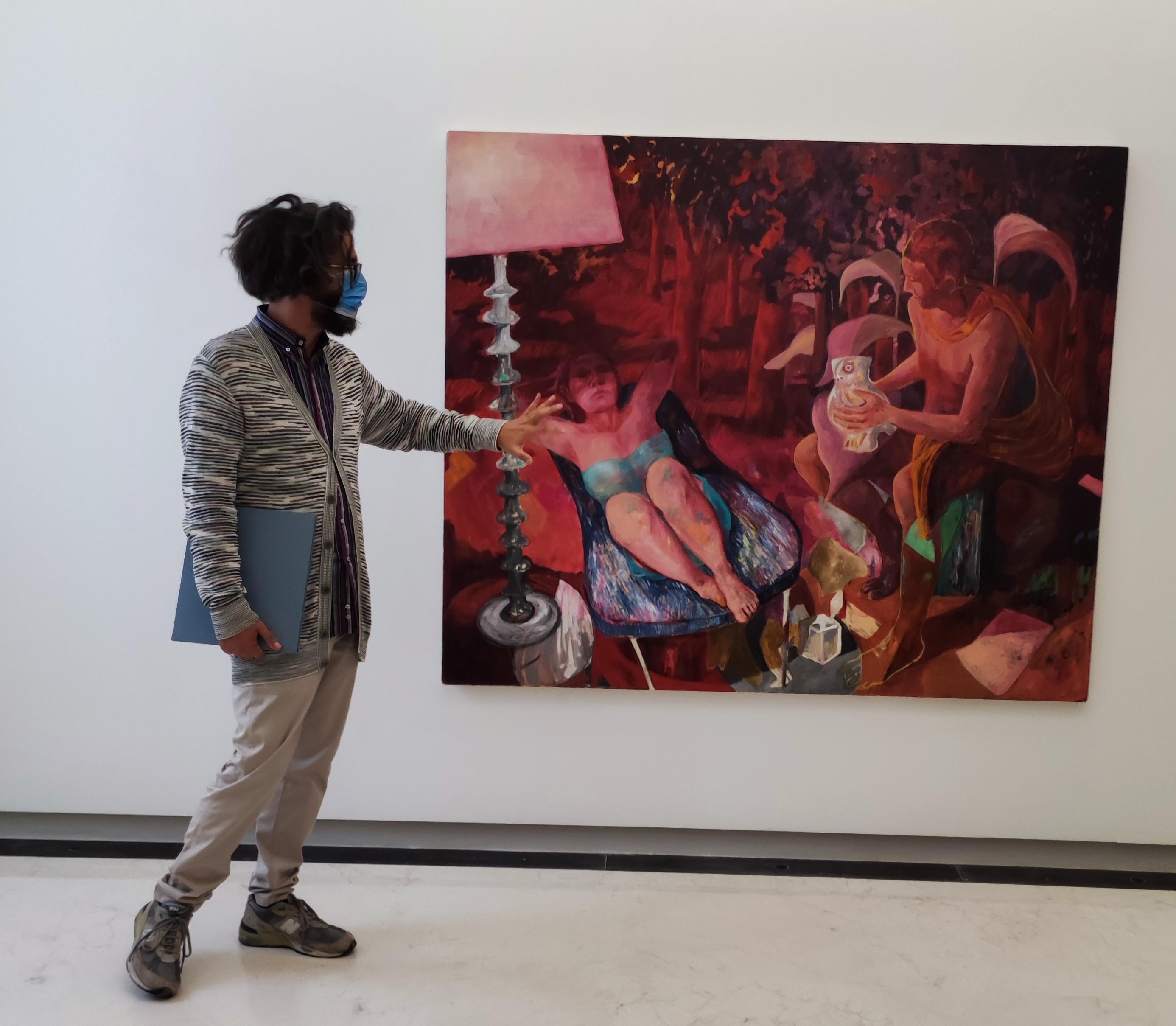 Pietro Gaglianò curatore della mostra Paso Doble - Fondazione Malvina Menegaz - Castelbasso (TE) - ph. Gino Di Paolo